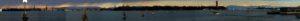 un ampio tratto delle Alpi Orientali viste dal Lido di Venezia - Foto di Paolo Semenza